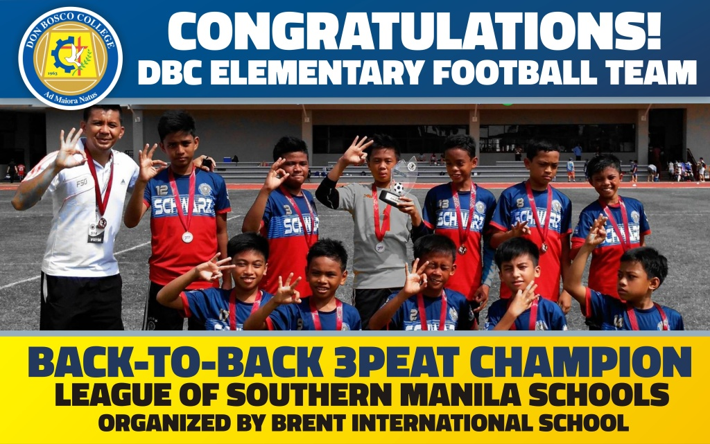 DBC AWARDS: THE BACK-TO-BACK 3PEAT FOOTBALL CHAMPION!