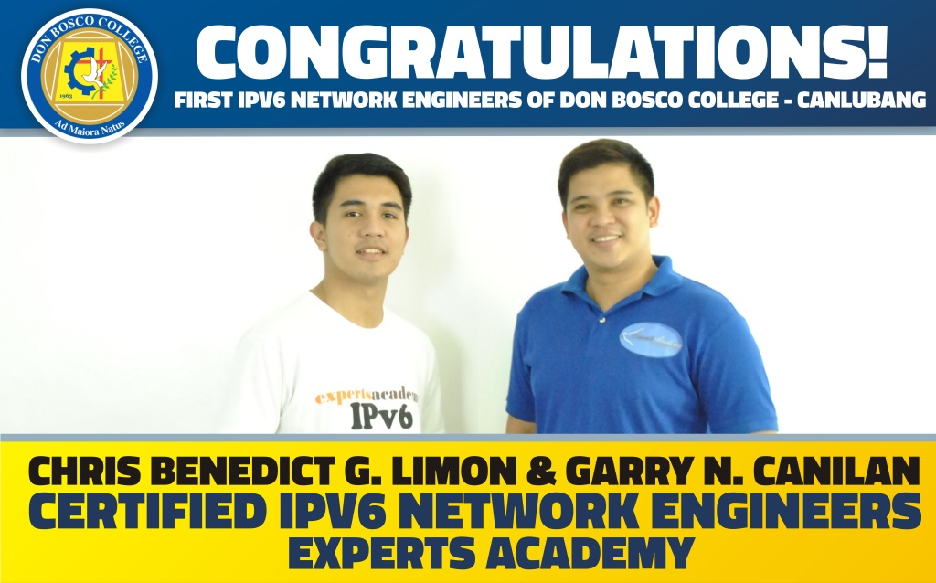 DBC ALUMNI: The First IPV6 Network Engineers of DBC certified by Experts Academy