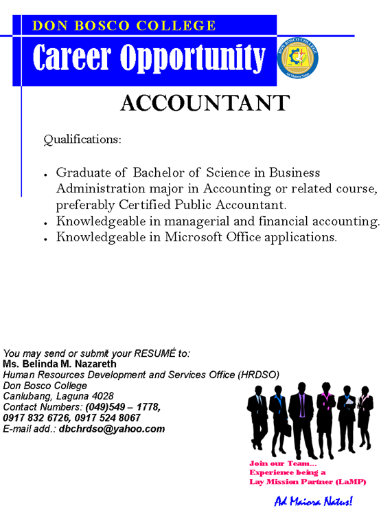 DBC CAREERS: We are currently looking for ACCOUNTANT