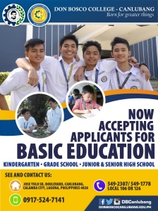 We are now accepting applicants for Basic Education!