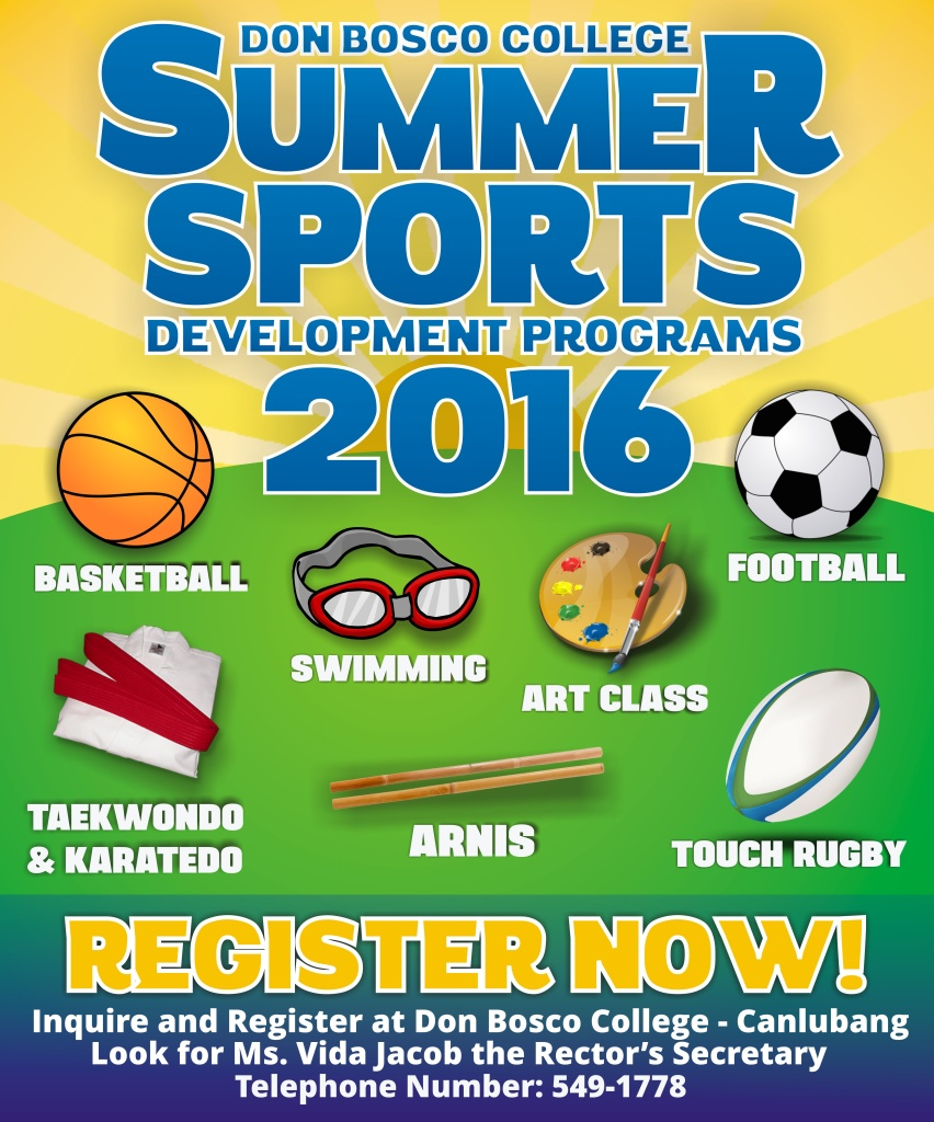 REGISTER NOW TO OUR SUMMER SPORTS DEVELOPMENT PROGRAMS!