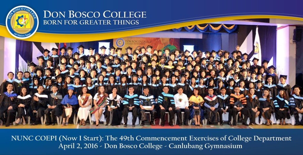 Bosconian College Graduates: Now we will begin!