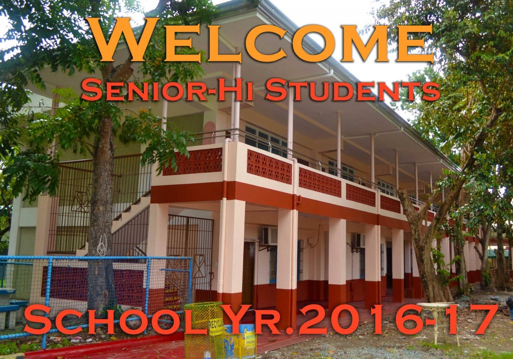 Senior High students, your new home is now ready!