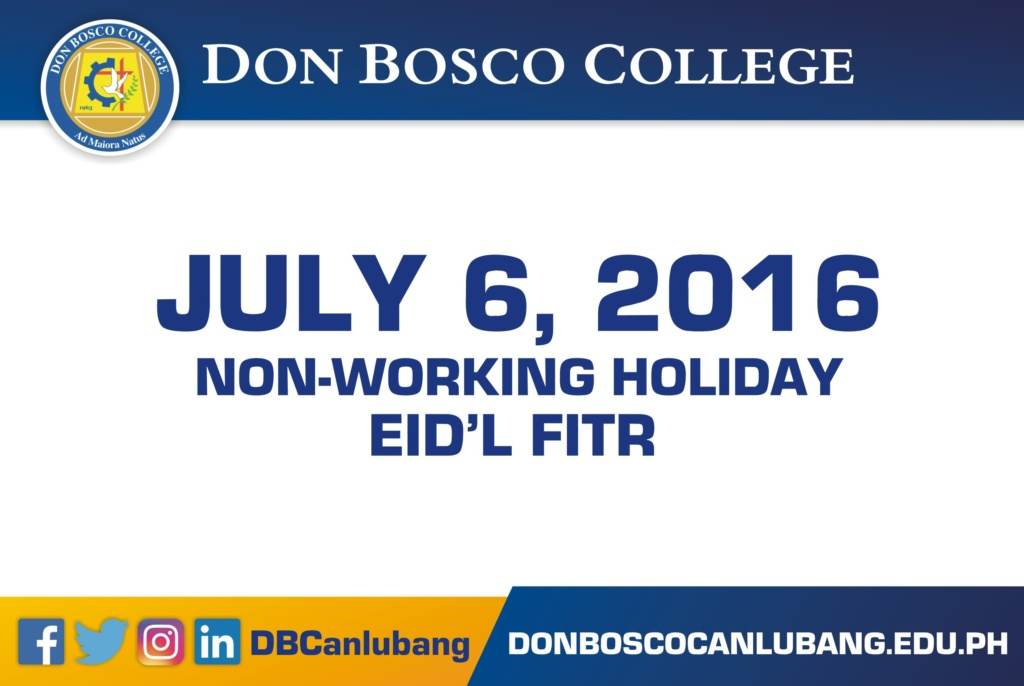 July 6, 2016 is Non-working Holiday – Malacañan Palace