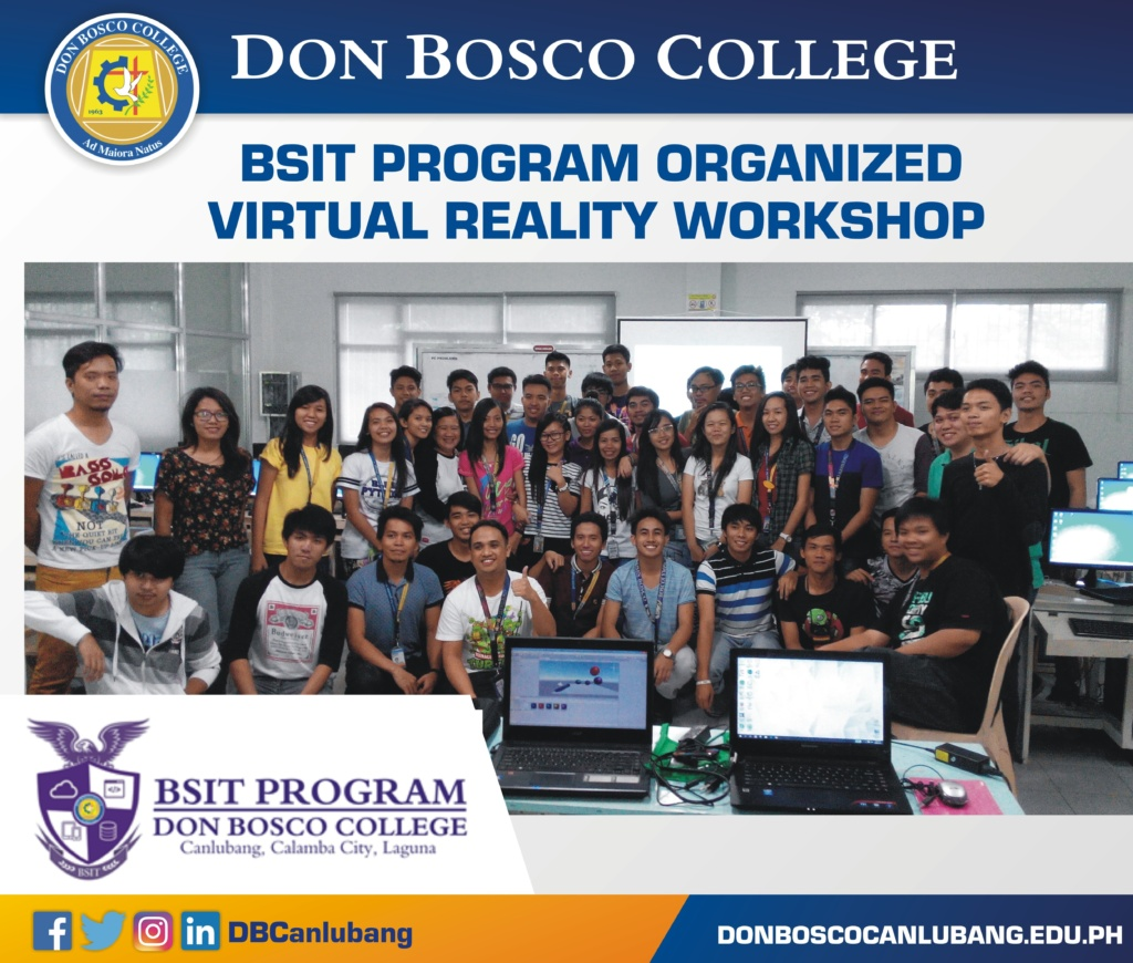 BSIT Program Organized Virtual Reality Workshop