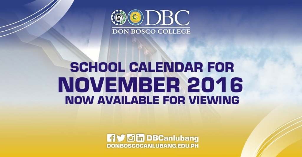 November 2016 school calendar, now available!