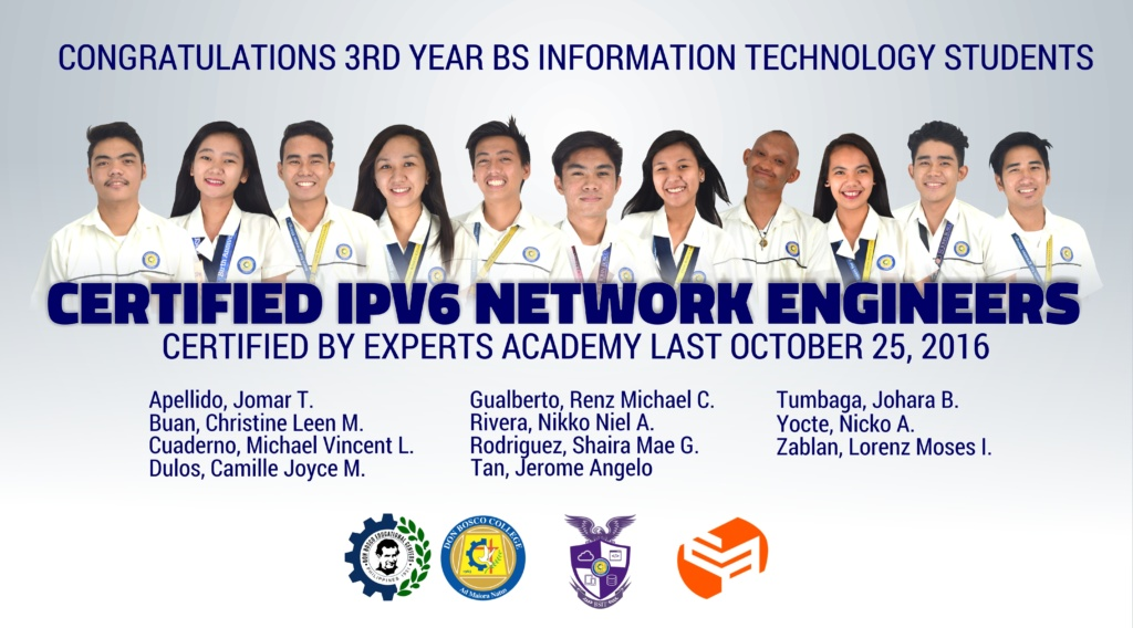 3RD YEAR BSIT STUDENTS, NOW NETWORK ENGINEERS!