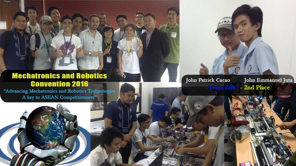 Bosconians John Emmanuel Juta and John Patrick Cacao won 2nd place in Mechatronics Skills Competition