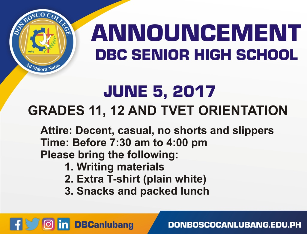 Attention, Senior High School and TVET!