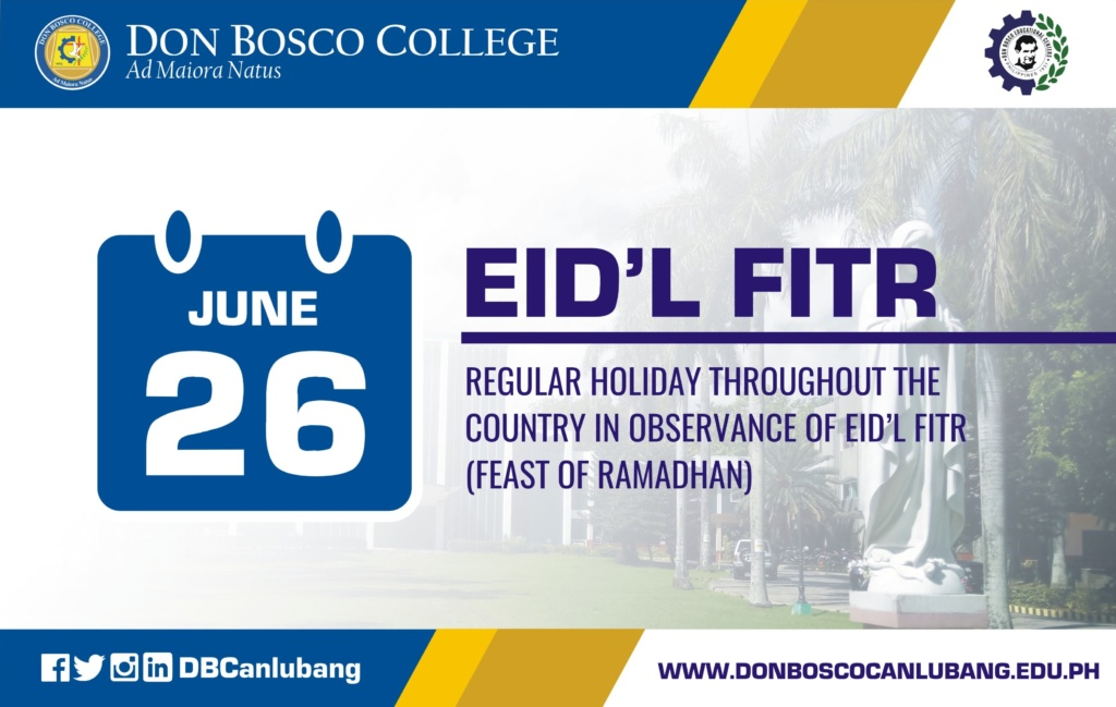 June 26 is Eid'l Fitr