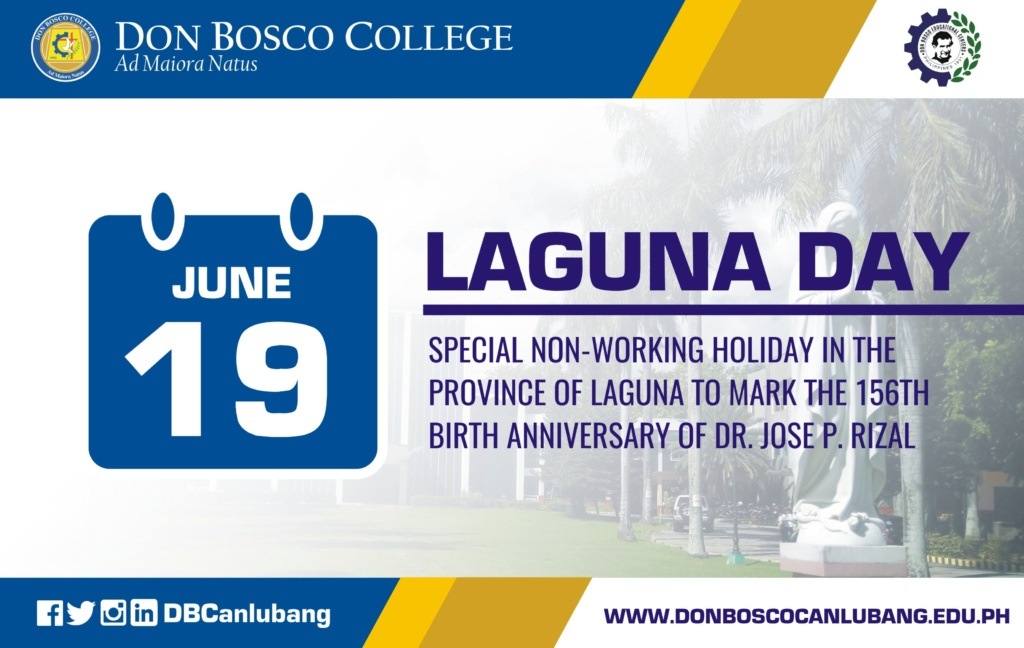 June 19 is special non-working holiday