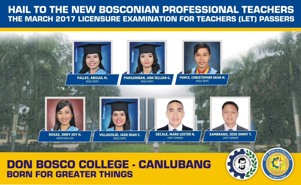 Hail to our new Bosconian Professional Teachers!